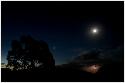 Venus, Moon and lighting
